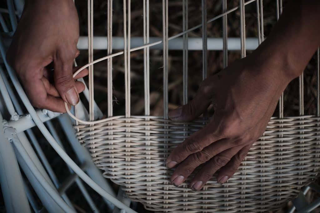 Our artisans and suppliers are paid justly and we do our utmost to ensure minimal waste by rejecting industrially made elements such as joints and nails where possible